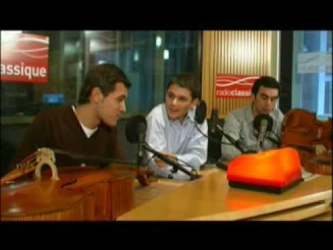 Entretien avec le Quatuor Modigliani sur Radio Classique