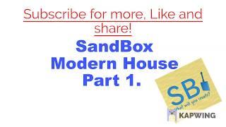 Modern House SpeedBuild Ep. 1[] Roblox [] SandBox [] DESC []