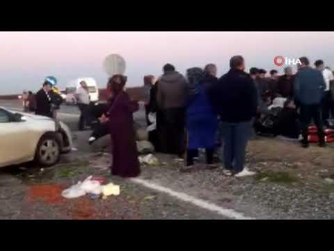 Diyarbakır'da trafik kazası: 2'si ağır 6 yaralı