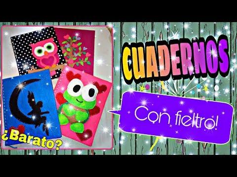 DIY: Cuadernos forrados con FIELTRO. Es muy BARATO. /Tani García YG