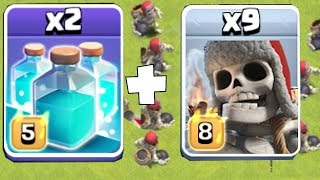 IT WORKS!!! GIANT SKELETON CLONE!! | Clash of clans | CLONE SPELL w/ NEW TROOP!
