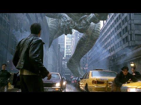 Godzilla in New York - Almost Squashed Scene - Godzilla 1998 Movie Clip