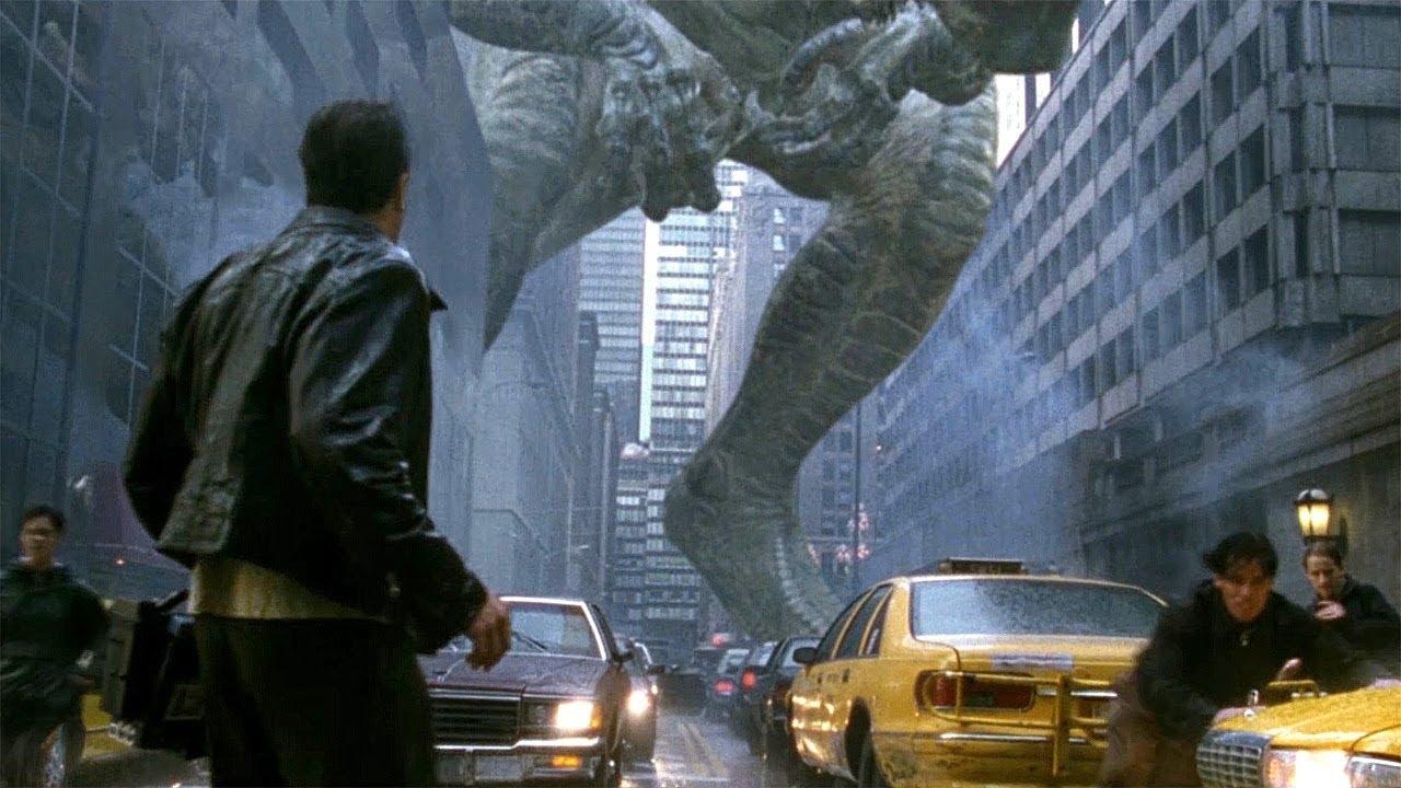 Download Godzilla in New York - Almost Squashed Scene - Godzilla (1998) Movie Clip HD
