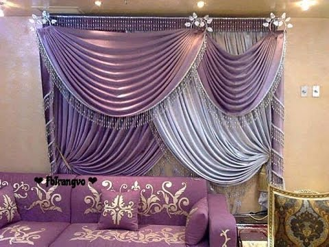 how to make swags and tails curtains triangle swags 1 youtube. Black Bedroom Furniture Sets. Home Design Ideas