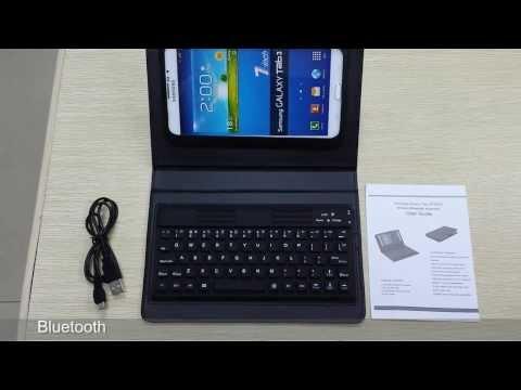 48a07755a84 Bluetooth Keyboard Case For Samsung Galaxy Tab 3 7.0 P3200 / P3210 / T210 /  T211 - YouTube