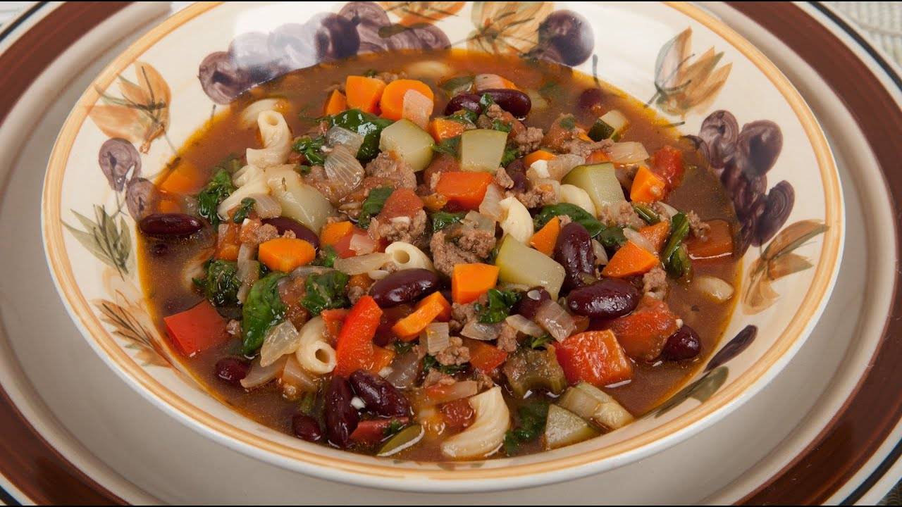 minestrone soup with stew meat