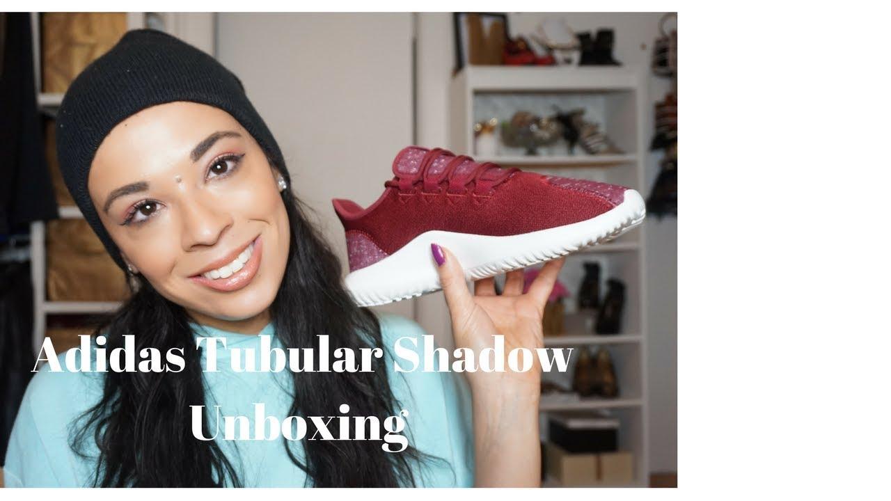 aaf78d24b26 adidas tubular shadows burgundy review - YouTube