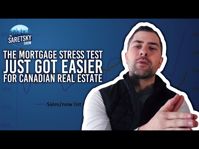 The Mortgage Stress Test Just Got Easier for Canadian Real Estate