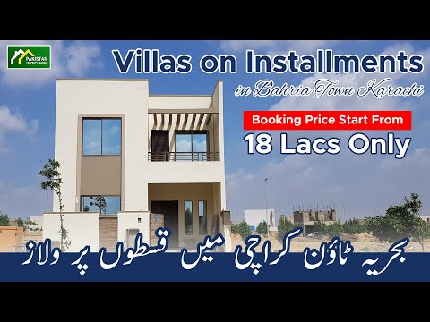 Villas On Installments In Bahria Town Karachi Booking Price Start From 18 Lacs Only