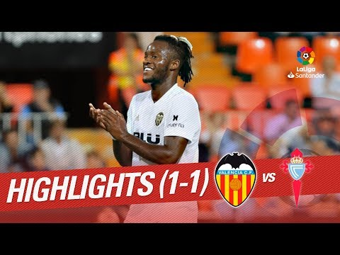 Resumen de Valencia CF vs RC Celta (1-1)
