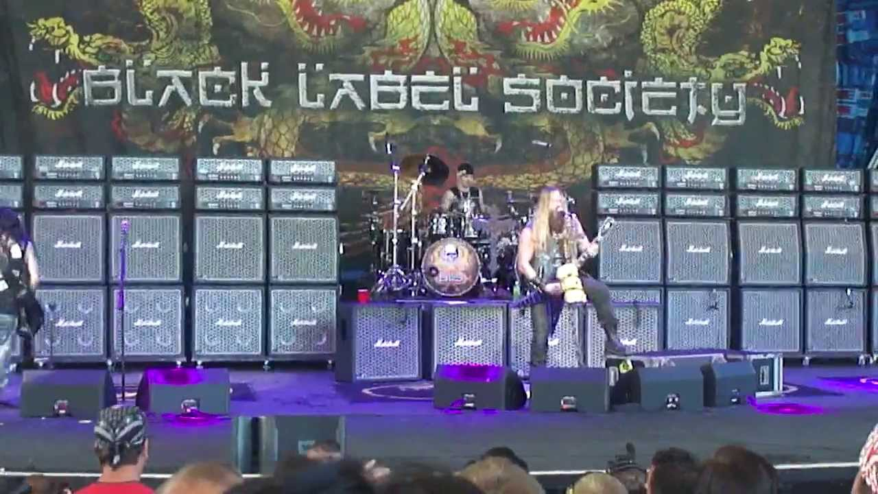 It is a photo of Juicy Black Label Society in This River Official Music Video