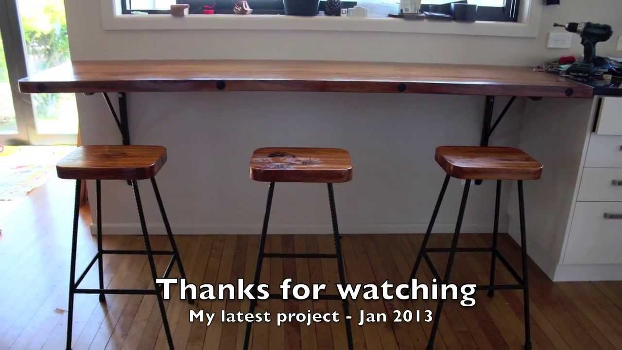 Merveilleux Rimu Breakfast Bar And Stools Project. Jan 2014   YouTube
