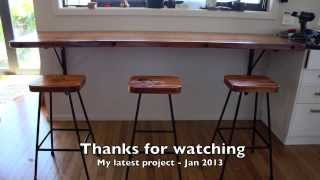 Rimu breakfast bar and stools project. Jan 2014