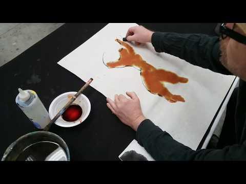 Bill Buchman doing a Live Figure Drawing Demo on Hemp Paper