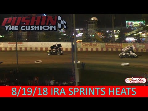 Angell Park Speedway - 8/19/18 - IRA Sprints - All Heats