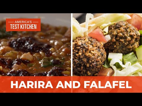 How to Make Perfectly Fluffy Falafel and Moroccan Lentil and Chickpea Soup
