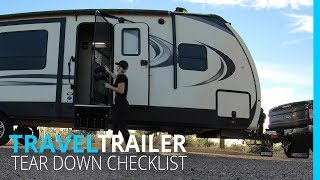 RV NEWBIE: TEAR DOWN CHECKLIST (KYD)