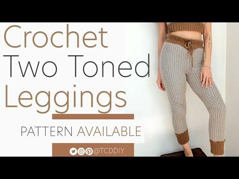 Crochet Two Toned Leggings | Pattern & Tutorial DIY