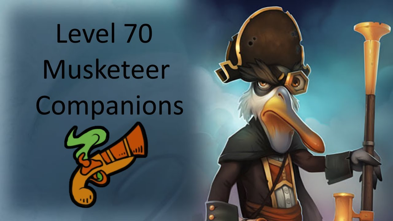 Pirate101 Musketeer Level 70 Companions