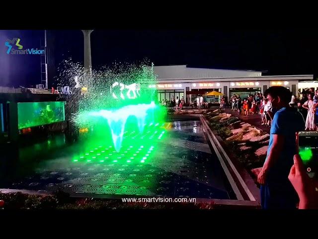 Matrix dry desk fountain - Thi công sàn nhạc nước ma trận
