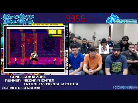 Comix Zone :: SPEED RUN (0:20:16) *Live at #SGDQ 2013* [GEN]