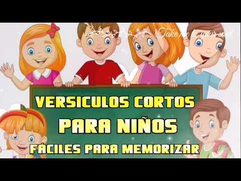 Versículos cortos para niños (fáciles para memorizar)