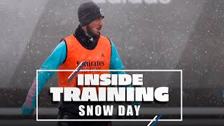 Training in the SNOW at Ciudad Real Madrid!