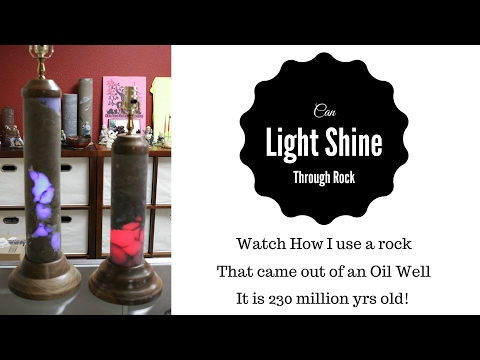 Lamps Oil Rocks  / watch what happens when we put LED lights in rock.
