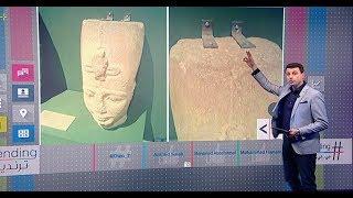 مسامير في رأس تمثال #رمسيس تثير سخرية في #مصر    #بي_بي_سي_ترندينغ