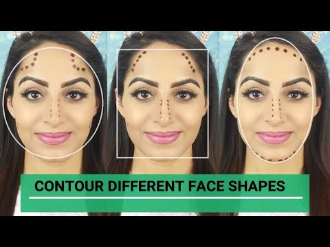 How To Contour Different Face Shapes (HINDI)  Deepti Ghai Sharma