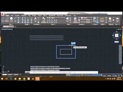 Auto cad (2015) using Trim & offset command