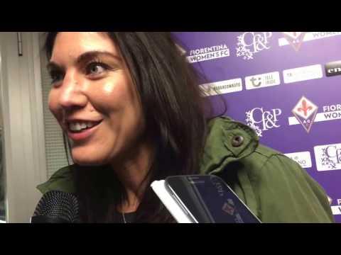 """Hope Solo: """"Mi piacerebbe giocare in una grande squadra, e la Fiorentina lo è"""""""