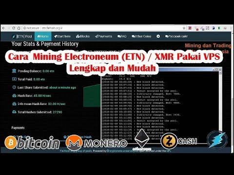 Tutorial Mining Electroneum ( ETN ), XMR  Pakai VPS  Lengkap Mining Bitcoin