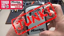 (642) Master Lock Combo Box - EZPZ to Open! (JUNK!)