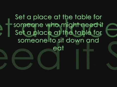 Set at Place at Your Table Lyrics - YouTube