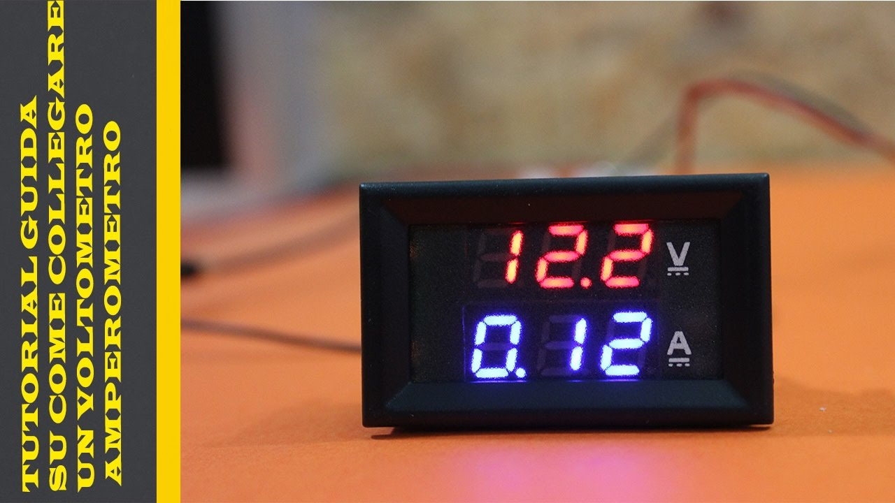 Schema Elettrico Voltmetro Per Auto : Tutorial guida su come collegare un voltometro amperometro youtube