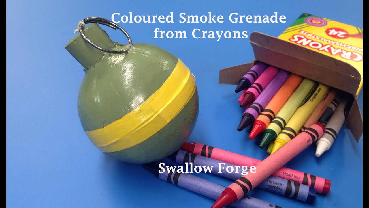 how to make coloured smoke from wax crayons smoke bomb grenade