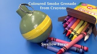 How to make Coloured smoke from Wax Crayons. Smoke bomb/ grenade for paintball, airsoft.. etc