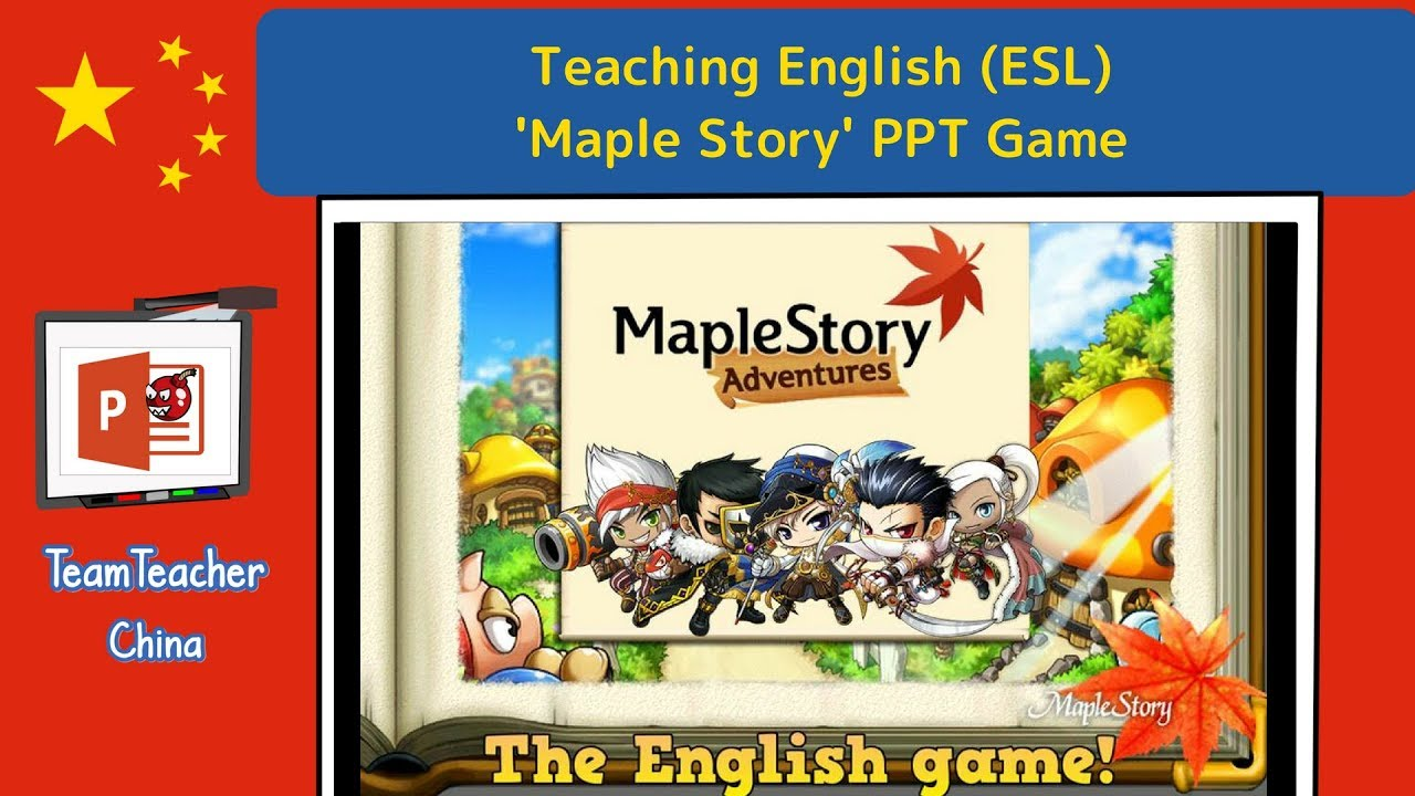 Maple Story PPT Game (Powerpoint Game)