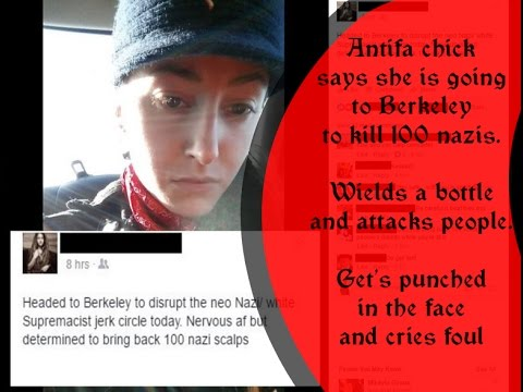 Louise Rosealma the Antifa Girl who got punched, lying to the media