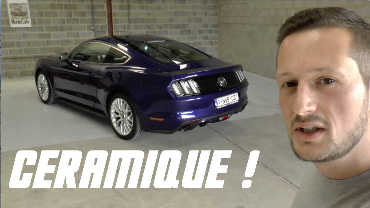 traitement c ramique fictech pour la ford mustang youtube. Black Bedroom Furniture Sets. Home Design Ideas
