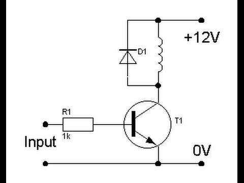 Using An Npn Transistor As A Relay Youtube