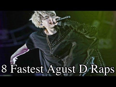 8 Fastest Agust D Raps