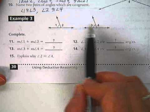 Geometry worksheet angle pairs part 2 - YouTube