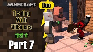 Part 7 - Trading with Villagers & Found new Village | Minecraft PE Duo | in Hindi | BlackClue Gaming