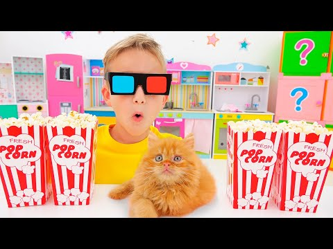 Vlad and Niki play with toys - Collection video for kids