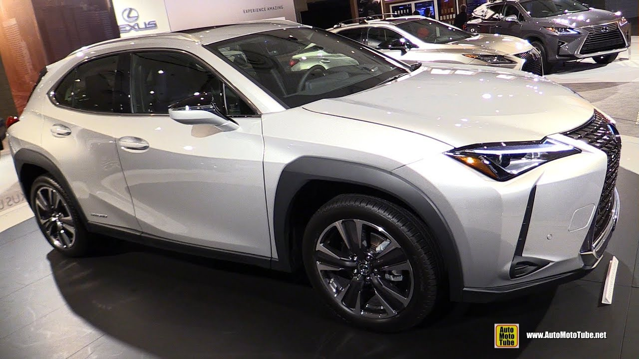 lexus uxh hybrid exterior  interior walkaround   york auto show