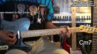 A CHANGE IS GONNA COME Sam Cooke Chords Play Along Guitar Lesson Link Cover @EricBlackmonGuitar