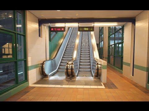 Sweden, Stockholm, Tumba train station, 8X escalator , 14X elevator ride