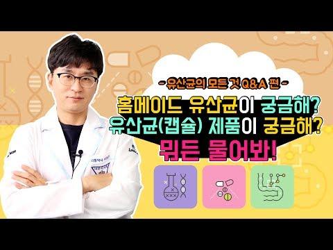 [유산균의 모든것 Q&A] 홈메이드 유산균 / 유산균(캡슐) 제품의 궁금한 모든것!